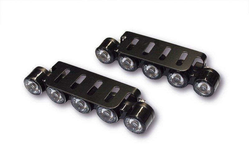 Dagrijverlichting motor recht 5 LED\'s set   mPartz.nl