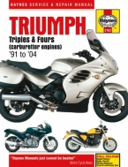 Werkplaatsboek Triumph Triples en Fours carburateur modellen 91-04